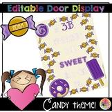 FREEBIE Editable Bulletin Board and Door Display - Candy