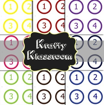 Editable Circle Classroom Labels ~ 10 color choices