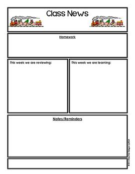 FREEBIE Editable Classroom Newsletter - Christmas