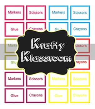 {FREEBIE} Editable Classroom Supply Labels ~ 6 color choices