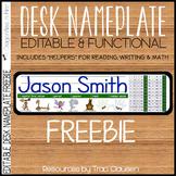 FREE Back to School -Desk Nameplates - Editable