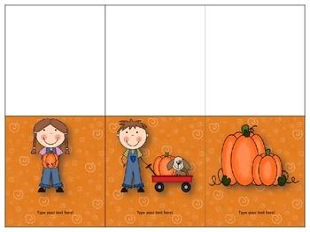 FREEBIE Editable Fall Mini Cards
