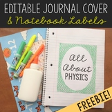 FREEBIE Editable Journal Cover, Goals Sheet, and Notebook Label Guide