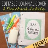 FREEBIE Editable Journal Cover, Goals Sheet, and Notebook
