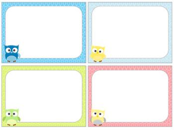 FREEBIE : Editable Labels : Patchwork Owls