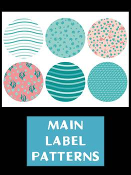 FREEBIE : Editable Labels Set : Turquoise Coral Sea SET 2, Ocean, tags, signs