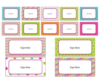 FREEBIE Editable Labels for Square Teacher Toolbox