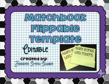 FREEBIE Editable Matchbook Flippable Template for Personal Use