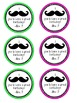 FREEBIE Mustache Birthday Pencil Toppers