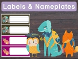 FREEBIE : Editable Name Plates and Labels : Woodland Schoolmates