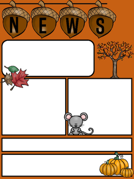 freebie editable newsletter template for fall by little lotus tpt