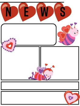 freebie editable newsletter template for valentines and february