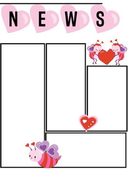 FREEBIE: Editable Newsletter Template for Valentines and February