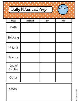 {FREEBIE} Editable Notes, Prep, and Planning Pages