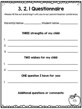 FREEBIE Editable Parent Teacher Conference Pack