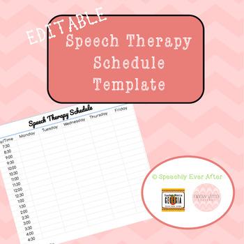 FREEBIE Editable Speech Therapy Schedule