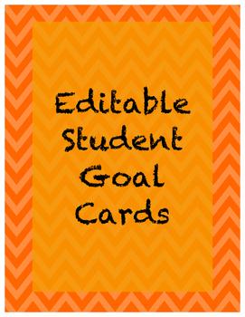 FREEBIE! Editable Student Goal Cards