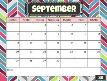FREEBIE Editable Super Cute Calendar August 2015 - August 2016
