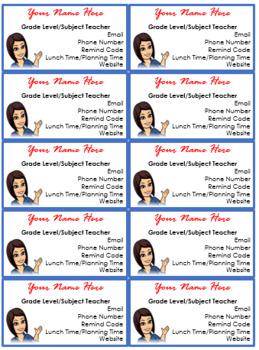 FREEBIE! Editable Teacher Business Cards