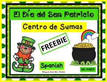 FREEBIE El dia de San Patricio Centro de Sumas Bilingual Stars Mrs. Partida