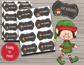 FREEBIE Elf Kisses {Chalkboard Labels}
