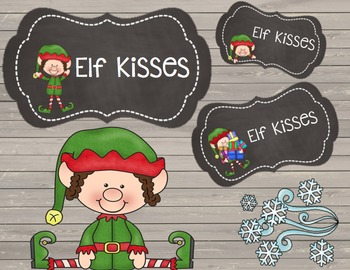 FREEBIE Elf Kisses {Chalkboard Labels}