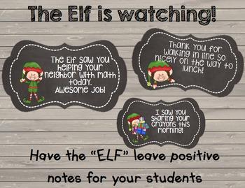 Elf Notes {Editable} Chalkboard Labels