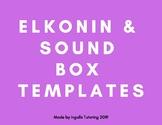 Elkonin & Fun & Seasonal Sound Blending Box Templates