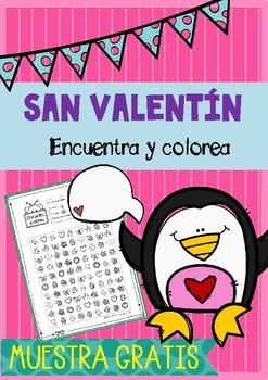 FREE Encuentra San Valentin -  Find St Valentine Spanish Español I SPY