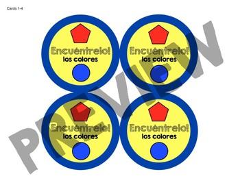 ¡FREE Encuéntrelo: Los colores! A Spot the Match Game for Spanish Color Vocab!