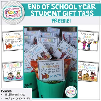 FREEBIE End Of Year Student Gift Tags