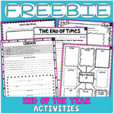FREEBIE: End of Year Activities