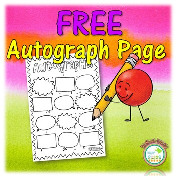 FREE End of Year Autograph Page