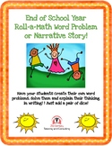 FREEBIE! Digital End of Year Word Roll-a-Story for Math or
