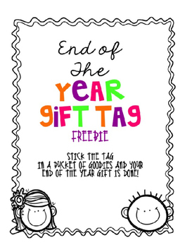 FREEBIE: End of the Year Gift Tag