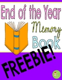 FREEBIE End of the Year Memory Book SAMPLE page- All About
