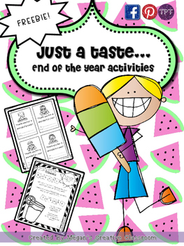 FREEBIE End of the Year Summer Fun {Just a Taste}