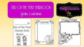 **FREEBIE** End of the Year Yearbook for Upper Graders