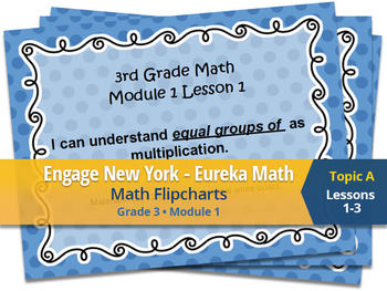 FREEBIE!!! Engage New York Eureka Math Flipcharts 3rd Grade Module 1 Topic A 1-3