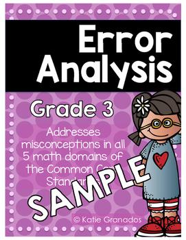 FREEBIE Error Analysis: Problem Solving Word Problems