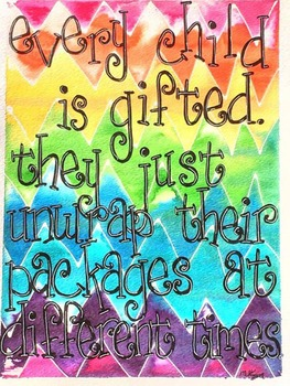 FREEBIE - Every child is gifted...original artwork