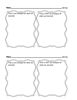 FREEBIE! Exit Tickets for Grades 2-6