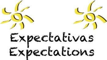 FREEBIE Expectations Expectativas classroom chromebooks bilingual