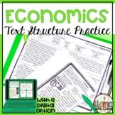 FREEBIE: Basic Economics Text Structure Practice