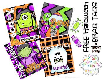 FREEBIE - FREE Halloween Brag Tags