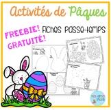 FREEBIE FRENCH Easter printables/activités de Pâques (gratuit)
