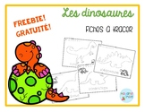 FREEBIE FRENCH Dinosaurs tracing mats/dinosaures à tracer