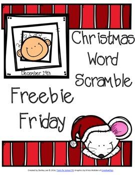 FREEBIE FRIDAY: FREE RESOURCES DECEMBER 19