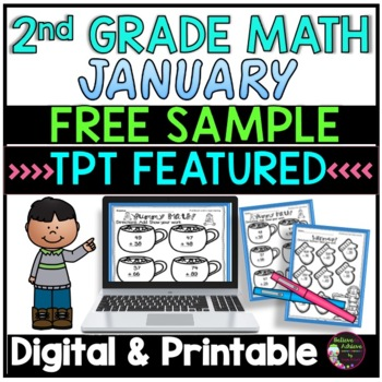 FREEBIE FROM: No Prep! Grade 2! Math for January!