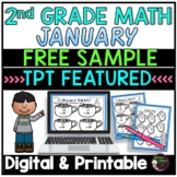 2nd Grade Math for January-FREEBIE *TPT Featured Resource*